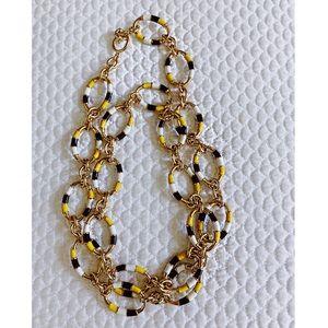J.Crew Enamel Oval Chain Necklace